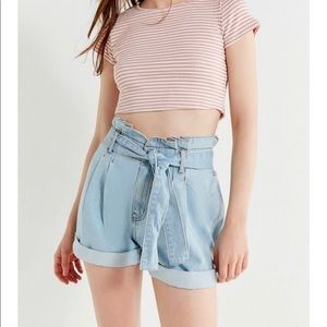 BDG Urban Outfitters Paperbag Denim Mom Shorts 28